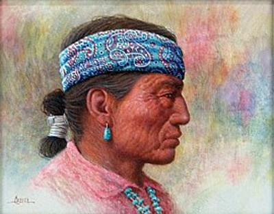 Navajo Man In Profile