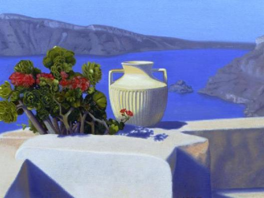 Morning Offering, Santorini