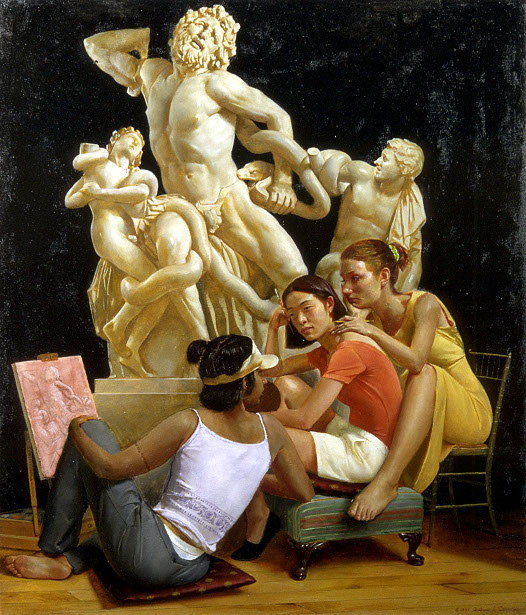 Students With Laocoon