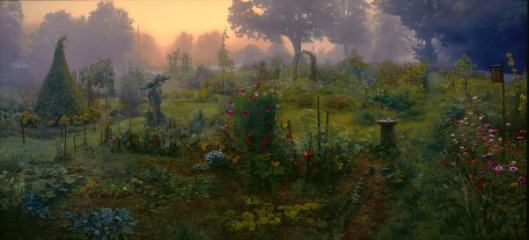 Community Garden At Sunrise
