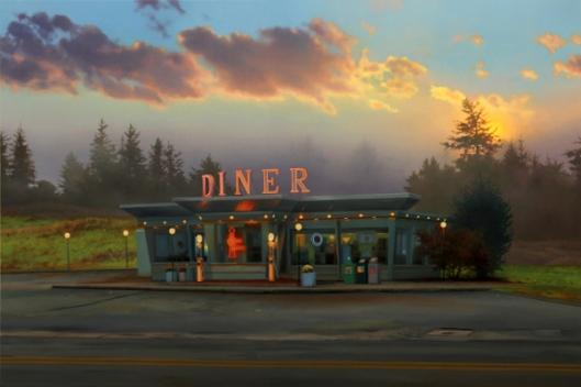 Diner At Sunrise