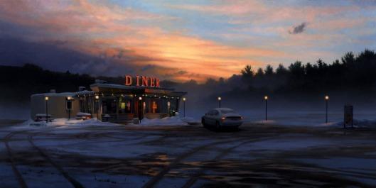 Diner In Winter