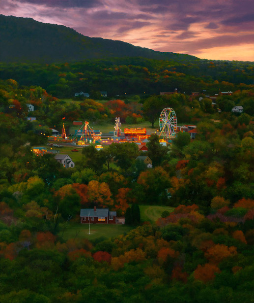 Fairgrounds At Twilight