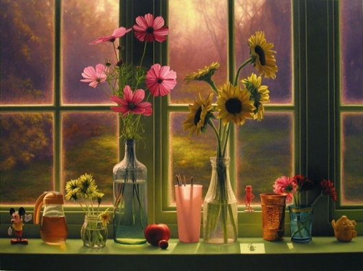 Flowers In Morning Window