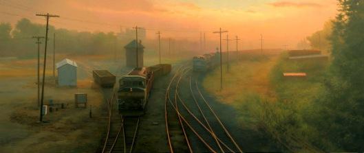 Sunrise At The Switching Yard