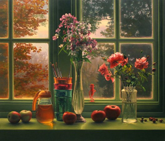 Window Still Life In Autumn