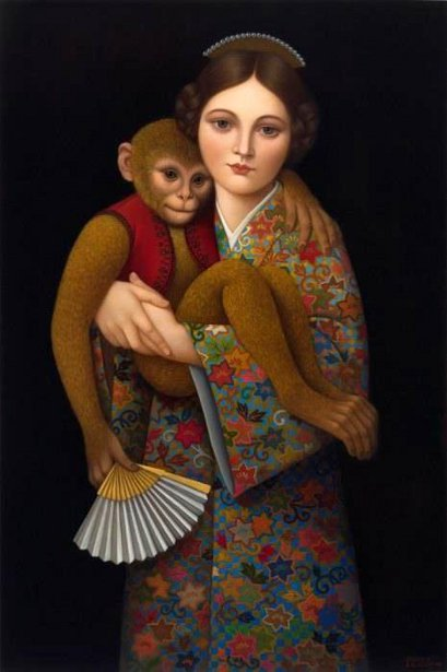 Girl With Golden Monkey