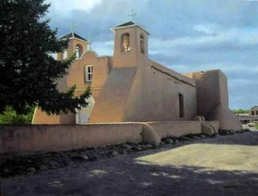 Afternoon Light On Ranchos de Taos