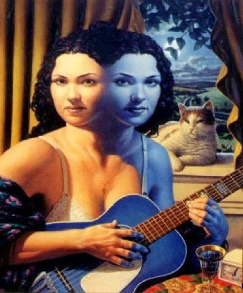 Woman With A Blue Guitar