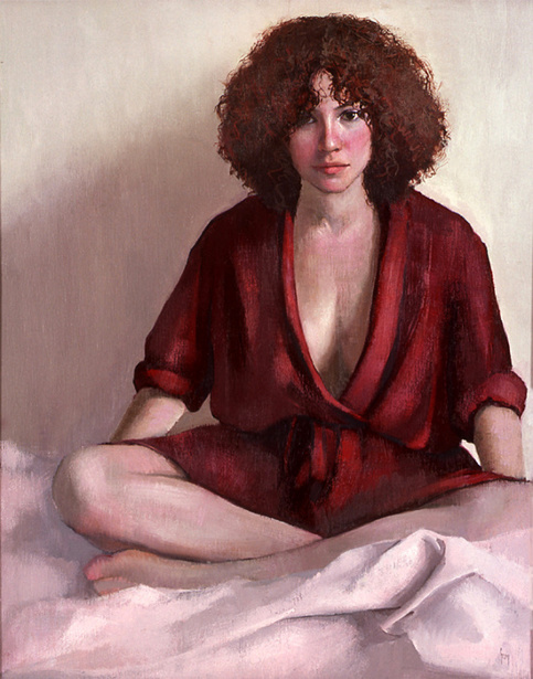 Gina In A Red Robe