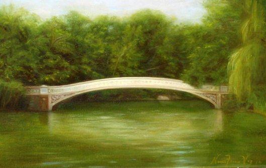 White Bridge In Central Park