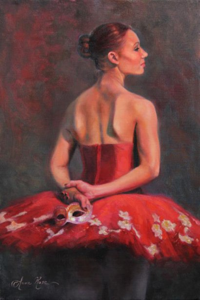 Ballerina With Venetian Mask