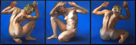 Blue Nude Triptych