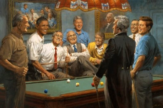 Callin' The Red - Democratic Presidents Playing Pool