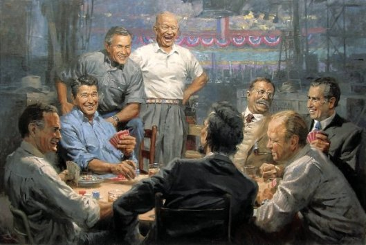 Grand Ol' Gang - Republican Presidents Playing Poker