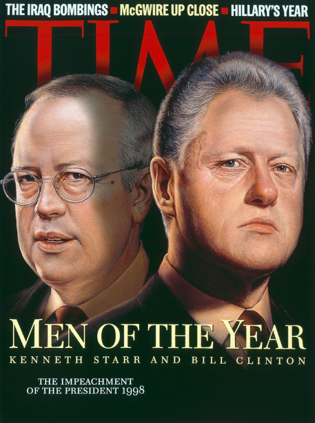 Kenneth Starr And Bill Clinton