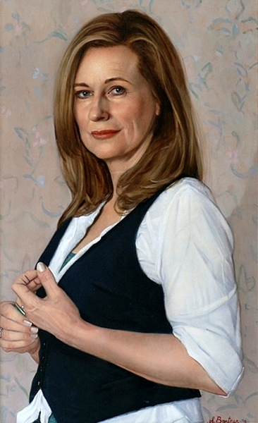 Portrait Of The Dutch Actress Carine Crutzen