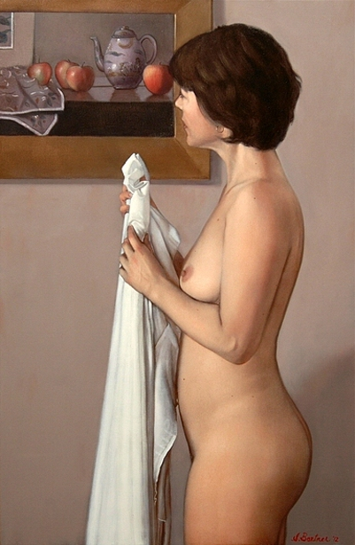 Standing Nude With Still Life