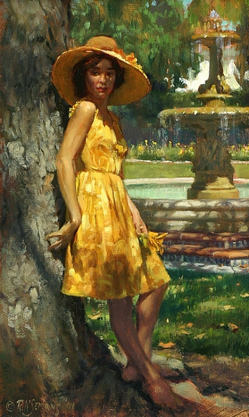 Girl In The Yellow Dress