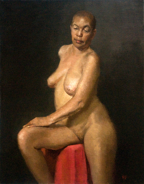 Seated African Female Nude