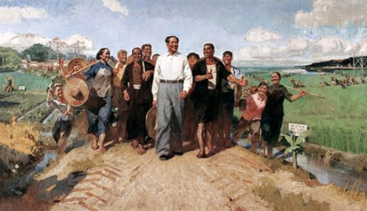 Chairman Mao Visiting Guangdong Countryside