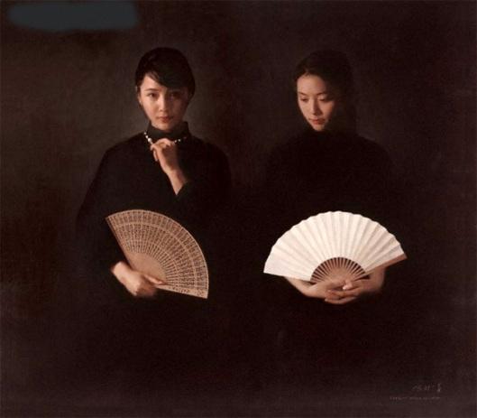 Girls With Fan