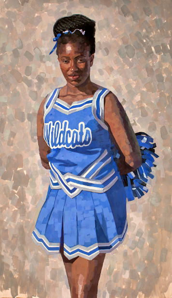 Oakland High Cheerleader
