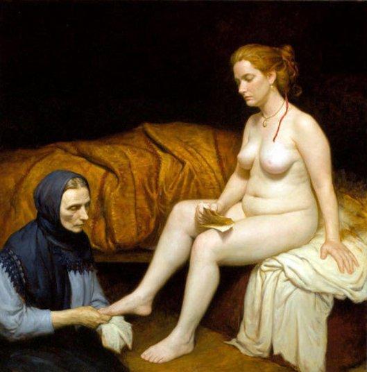 Homage To Rembrandt, Bathsheba