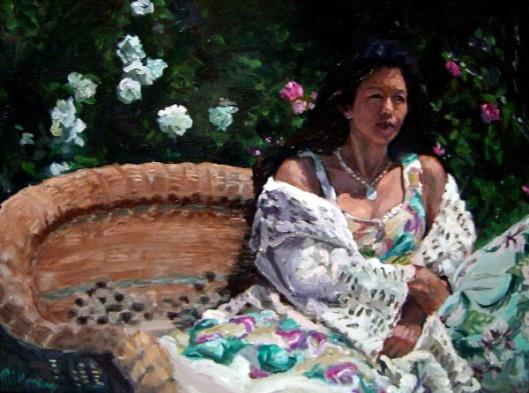Nancy In The Rose Garden