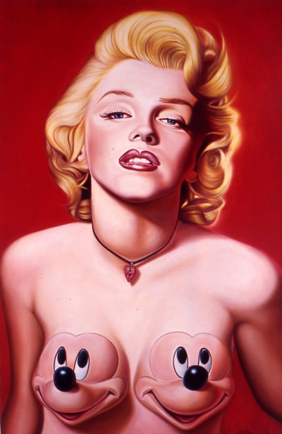 Red Marilyn With Mickeys