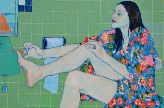 Sarah Van Der Beek In Her Bath Closet
