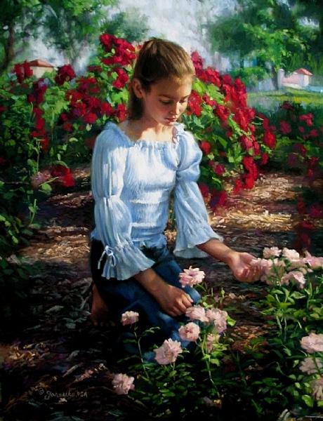 Admiring The Roses