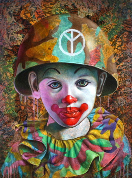 Camo Peace Clown
