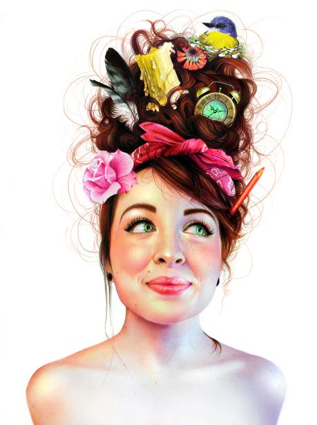 Frazzled Girl - Self-Portrait