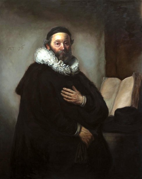 Old Man Ruffles (A Rembrandt Mastercopy)