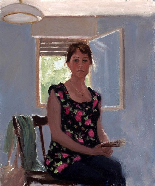Self Portrait In Floral Blouse, 2010