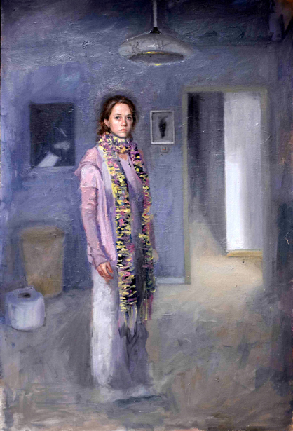 Self Portrait With Scarf, 2011