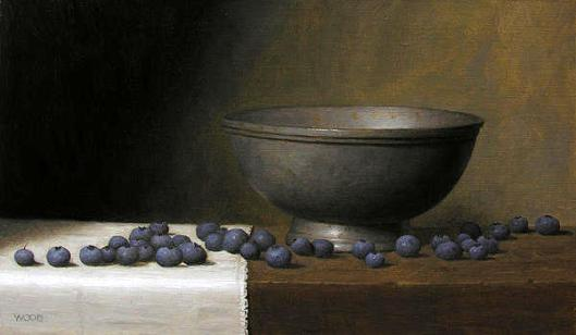 Still Life With Bowl And Blueberries