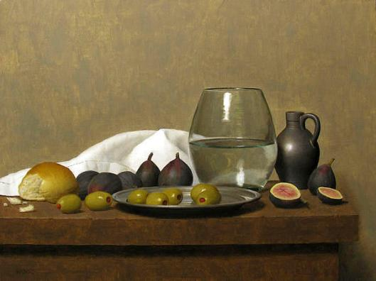 Still Life With Figs And Olives