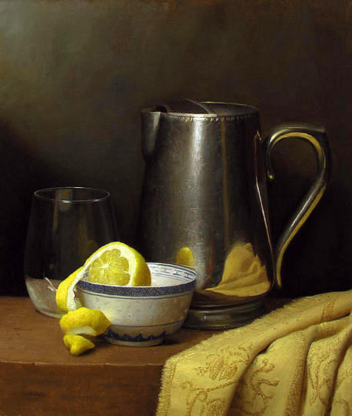 Still Life With Lemon And Pitcher
