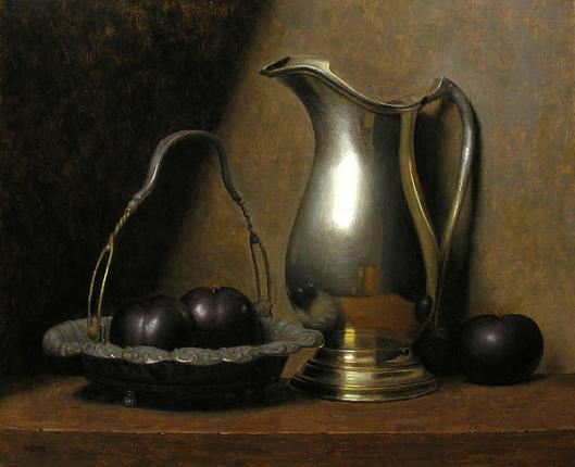 Still Life With Plums And Pitcher