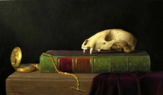 Still Life With Pocket Watch And Fox Skull