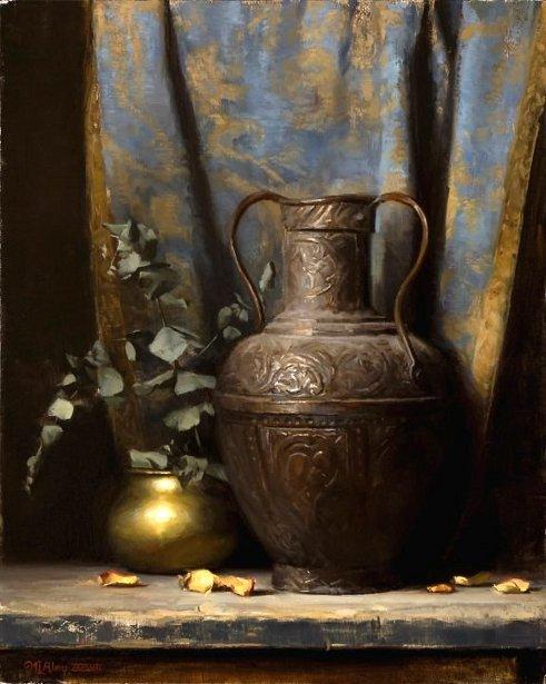 Brass Pots & Eucalyptus