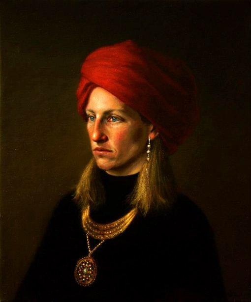 Girl In A Red Turban (Tribute To Van Eyck)