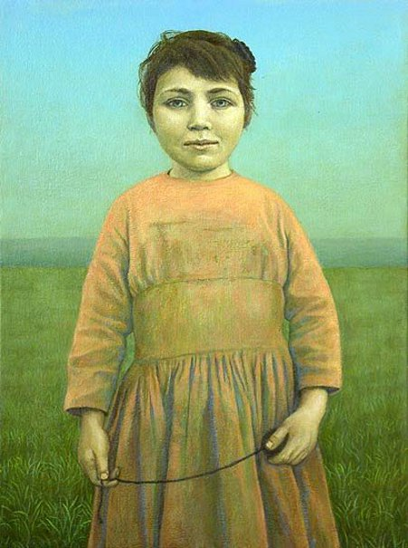 Girl With String