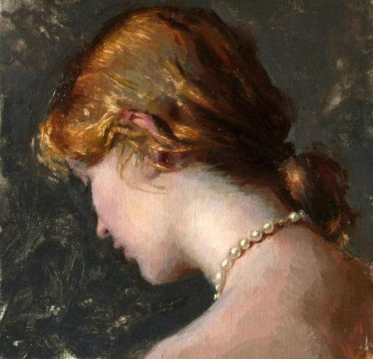 Young Woman With Pearls
