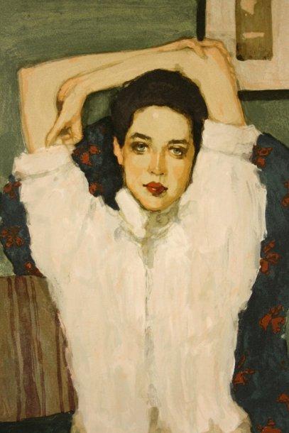 Brunette Girl - Girl In White Blouse