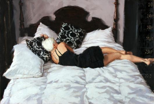Amanda On Bed