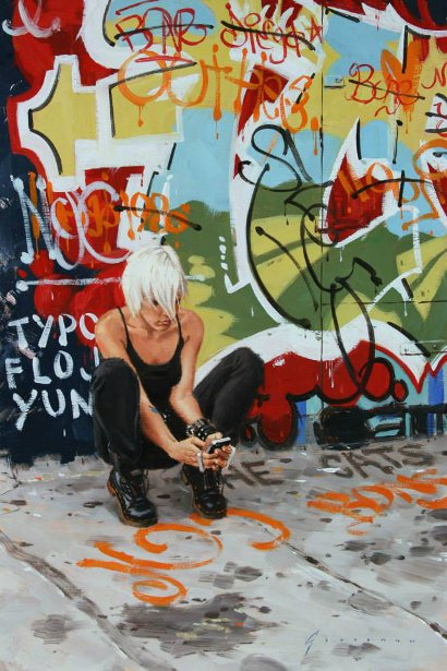 Girl With Graffiti