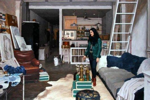 Jennifer In Her Studio